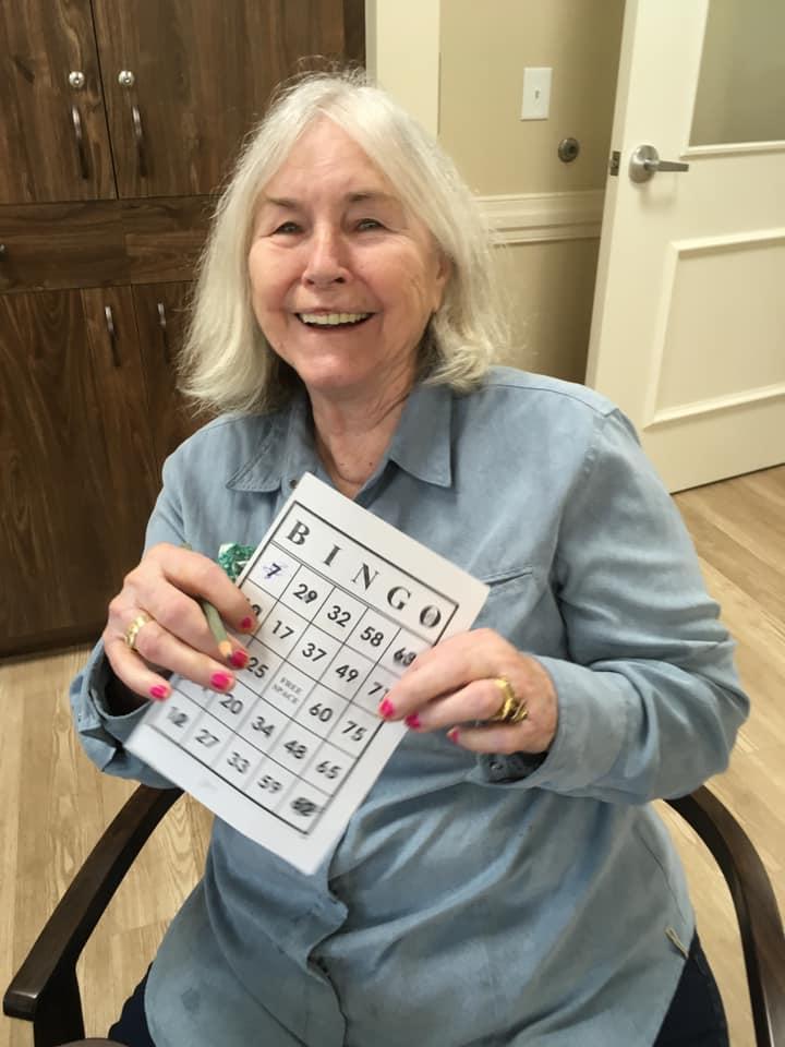 Residents at The Berkeley love playing Bingo